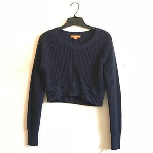 Navy Crop Sweater
